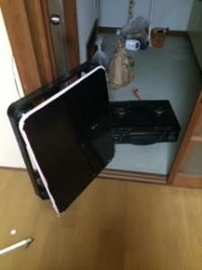 ガスレンジ処分 こたつテーブル回収 不用品処分 家電回収 千葉県 松戸市 六実