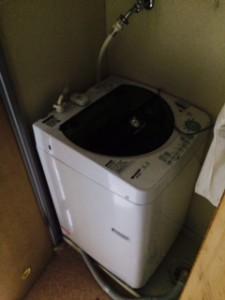 洗濯機を回収いたしました。