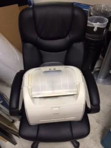 プリンタ 椅子 回収