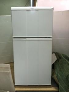 葛飾区で冷蔵庫の回収を行いました。